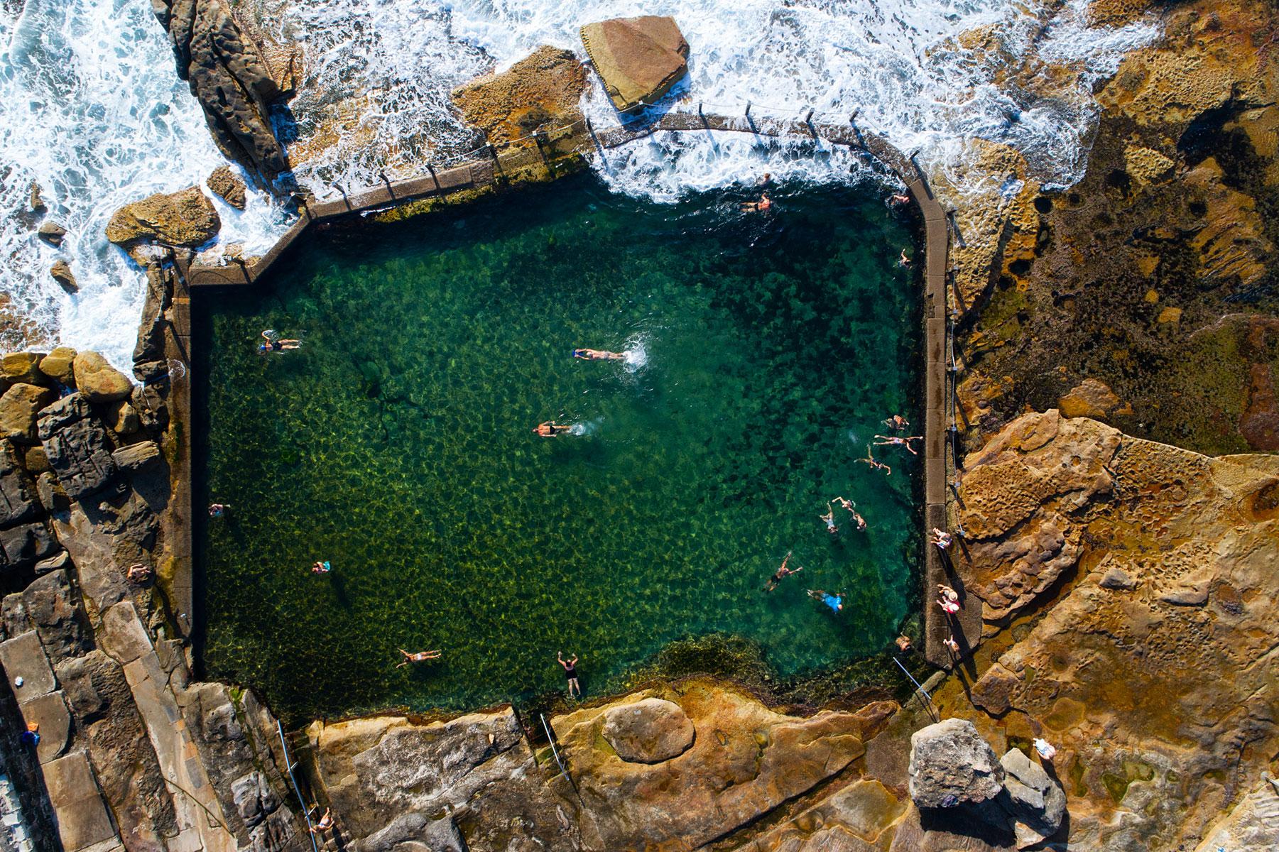 Ocean Pool Aerial